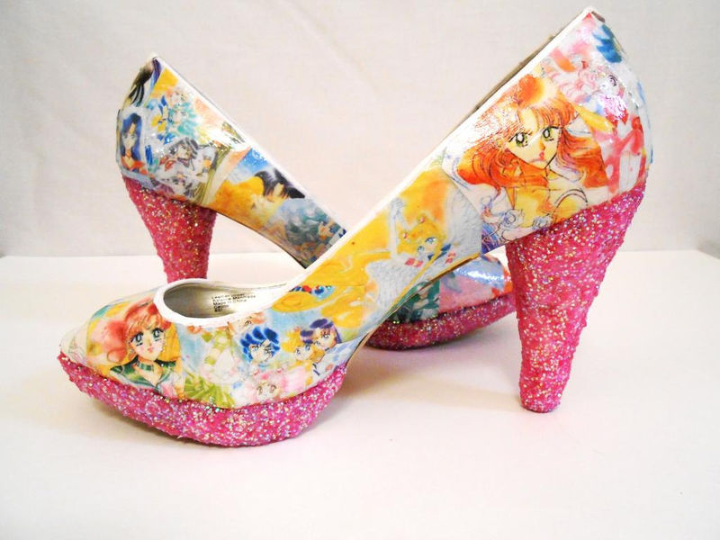 Manga-Inspired Soaring Pumps