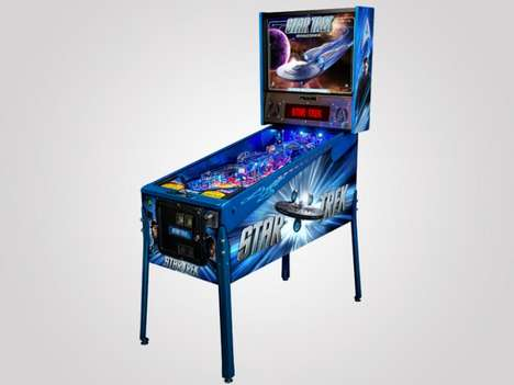 Nostalgic Space Odyssey Games - Explore the Far Reaches of Space with the Star Trek Pinball Machine