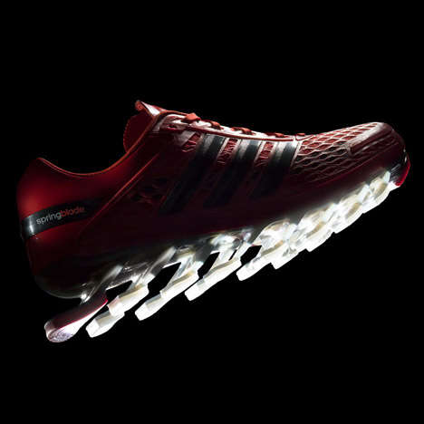Blade-Like Training Shoes - The Adidas Springblade Razor Shoes Have Blades Protruding from the Soles