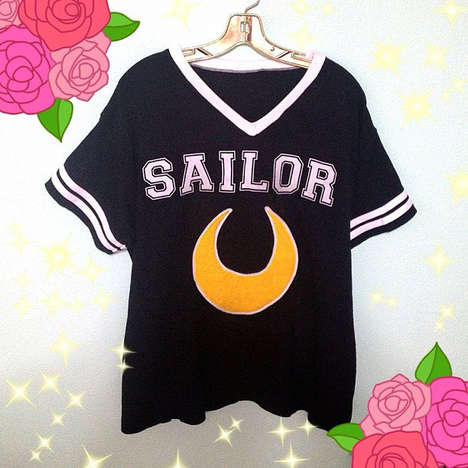 Anime-Inspired Football Jerseys - Support Your Favorite Scout With This Sailor Moon Shirt
