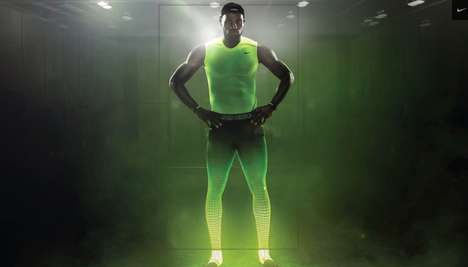 Rehabilitation Compression Sportswear - The Nike Pro Combat Recovery HyperTight is Worn After Games