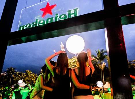 Man-Made Sunrise Commercials - Heineken Brings the Sun to Singapore at the Annual Zoukout Festival