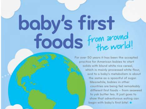 International Baby Food Graphic - This Baby Food Graphic Shows How Tots are Fed Around the World