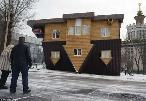 Gravity-Defying Homes - This Upside-Down Home is Located in Russia