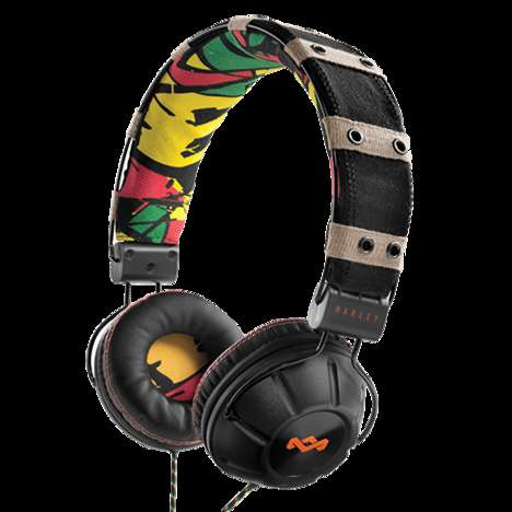 Eco-Friendly Rasta Headphones - The House of Marley Headphones are Earth-Friendly and Stylish