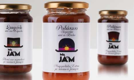 Hat-Bearing Branding - Mr. Jam Packaging Features a Whimsical Piece of Headwear on Every Jar