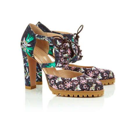Femininely Psychedelic Footwear - The Mary Katrantzou x Gianvito Rossi Collection is Very Bold