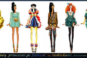 These Disney Princess Redesigns from Sashiiko-Anti Have a Stylish Spin