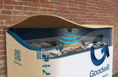 Charitable Recycling Bins - The Tech-Enabled Goodwill Recycling Bin Revolutionizes Charity