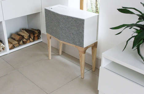 Felted Amplifying Furnishings - The V Speaker is a Fetching and Multifunctional Piece of Furniture