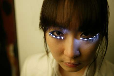 Glowing LED Eyelashes - These False Eyelashes Take the Beauty Craze to Another Level