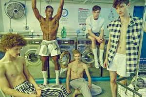 This Schon! Magazine Men's Editorial Takes Place in a Laundry Mat