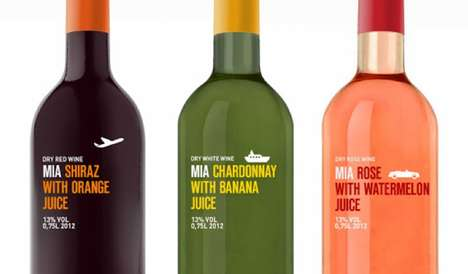 Adventurous Brand Identities - MIA Fruit Wine Packaging Tempts You With References to Traveling