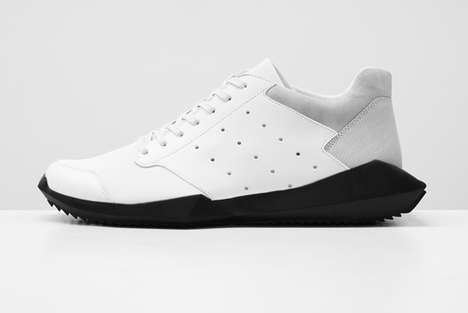 Unnecessarily Jagged Sole Sneakers - The Rick Owens x Adidas Originals Tech Runner Pushes Boundaries