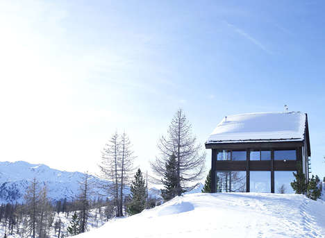 Geometric Chalet Retreats - The New Chalet Camelot Mountain Setting is Perfect for Solitude