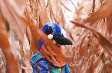 Surreal Avian Knitted Costumes