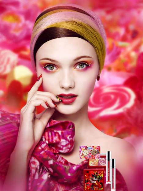 Collaged Skincare Packaging - The Mika for Shu Line is Vibrantly Inspired by Nature