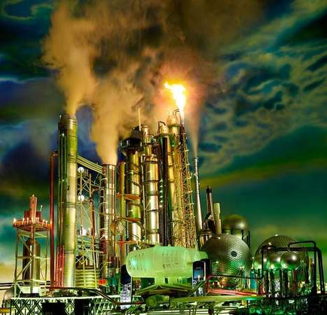 Homemade Lifelike Refinery Models - These Recyclable Models Mirror Real Refineries and Gas Stations