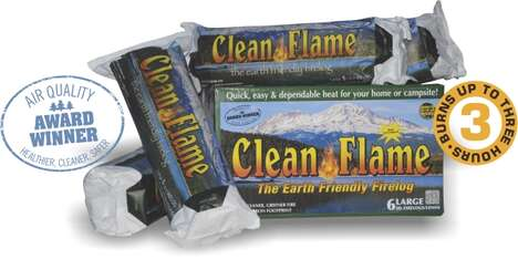 Sustainable Clean-Burning Logs - CleanFlame Fire Logs Are Crafted from 100% Recycled Materials