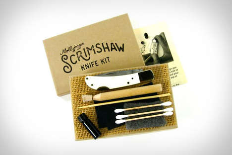 DIY Engraving Blade Sets - The Heirloom Scrimshaw Knife Kit Allows People to Engrave the Handle