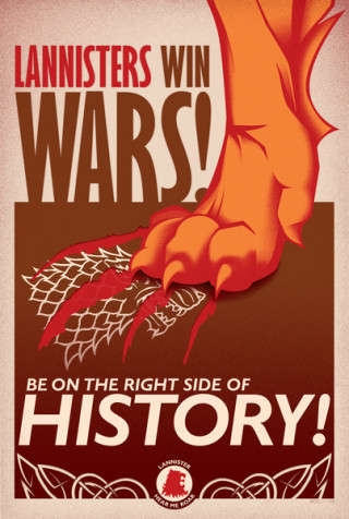 Fantasy Indoctrination Posters - These Game of Thrones Propaganda Posters Rally Their Men for War