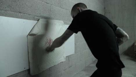 Blood-Inspired Artwork - Mac Blondie Uses His Own Fists as Paintbrushes & Blood as Oil to Create Art