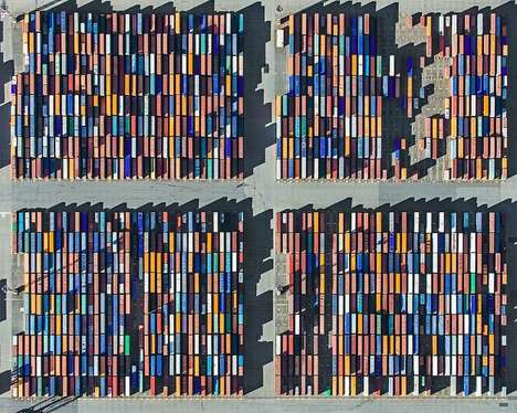 Impactful Birds Eye Photography - Aerial Views by Bernhard Lang Captures Footprint of Globalization