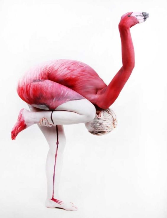 Animalistic Body-Painted Artworks