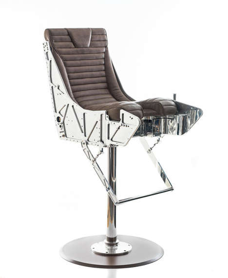 Fighter Pilot Drinking Seats - Fly into the Danger Zone on Your Ejector Seat Bar Stools