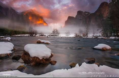 Surreal Iconic Park Photography - Lewis' Photographs of Yosemite Feels Like You're in a
