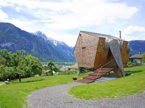 Stilt-Supported Cabins - The UFOGEL Holiday House was Designed by Peter Jungmann