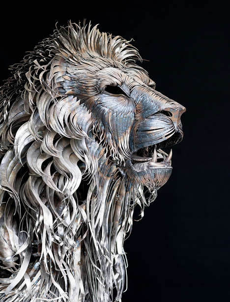 Metallic Predator Sculptures - Artist Selçuk Yılmaz Created This Detailed Lion Sculptures