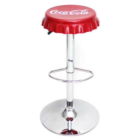 Beverage Cap Barstools - These Bottle Cap Stools Would Make a Great Addition to Any Bar