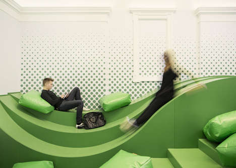 Wavy Student Lounges - The Svet Vmes Architects Firm Designed This Modern Student Lounge