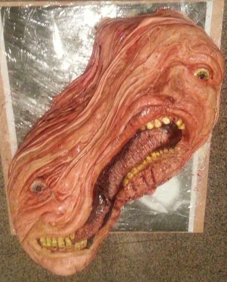 Grotesque Movie Monster Cakes - This Birthday Cake was Modeled After a Movie Monster From The Thing