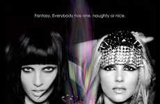 Dual Personality Fragrance Ads - Fantasy The Naughty Remix and The Nice Remix Campaign is Two-Faced