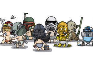 This Star Wars Babies Art Depicts Our Favorite Star Wars Characters as Tots