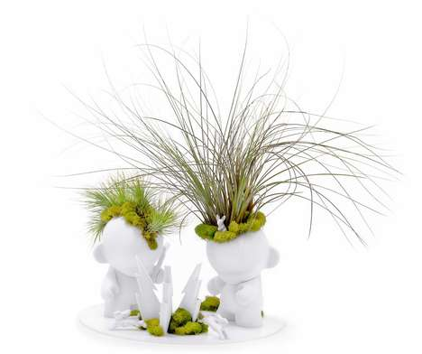 Playful Planter Sculptures - Plant the Future by Paloma Teppa is Modern and Youthful