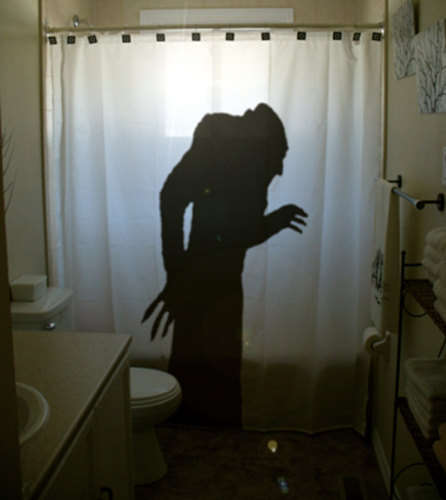 Vampiric Cinema Shower Curtains - The Nosferatu Shower Curtain Celebrate Cinema