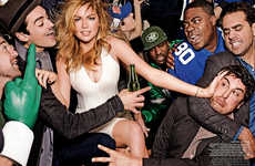 Football-Infused Fashion Shoots - Mario Testino Captured Kate Upton for Vogue US