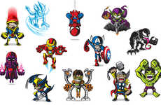 Miniature Superhero Art