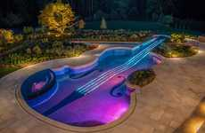 Violin-Shaped Pools