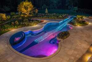 The Violin Swimming Pool Was Built by Cipriano Landscape Design