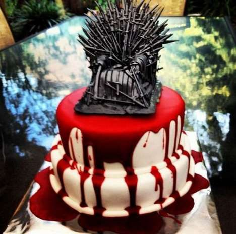 Blood-Drenched Confections - The Red Wedding Cake is Made for