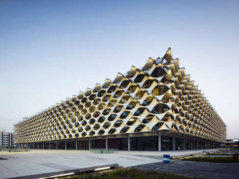 Textile-Inspired Libraries - King Fahd Library is a Lattice Cube Inspired by Classical Architecture