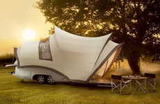 25 Conspicuous Campers - From Rustic Barnyard SUVs to Geodesic Domed Lodges