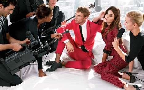 Faux-Interview Fashion Ads - The Sisley SS14 Campaign Involves Glamorizing Props