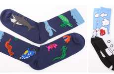 Childlike Sock Accessories - This Printed Sock Collection Features Animal-Themed Motifs