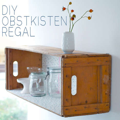 Upcycled Crate Shelves - Transform an Ordinary Wooden Box into a Practical Shelf with This Guide