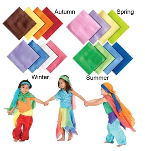 Imagination-Aiding Accessories - Seasons Play Silks Encourage Interactivity During Playtime